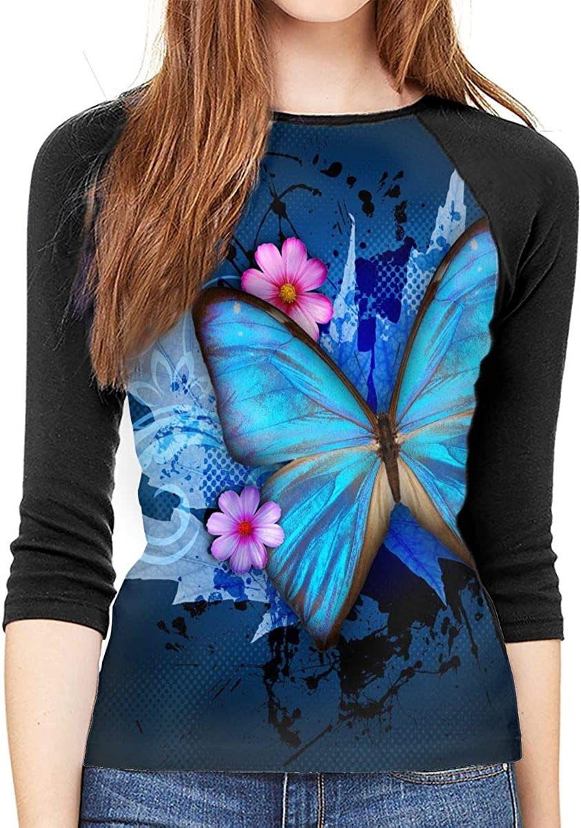 QueenMM 2020 Fashion Butterfly Printed O-Neck Comfy Tee Tops Animal Blouse Short Sleeve Summer T-Shirt for Women