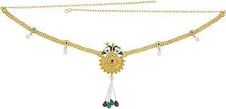 Memoir Gold Plated, Rasrawa Work Peacock Motif Long Adjustable Traditional Kamarbandh Clothing Women