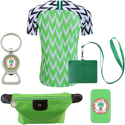 716611c9e8a EE bestort Nigeria 2018 Home Mens Soccer Jersey Color Lime (X-Large)