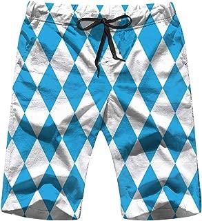 X-Large Oktoberfest Blue Men's Swim Trunks and Workout Shorts Swimsuit or Athletic Shorts - Adults Boys