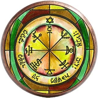Solomons 7th Jupiter Seal for Power Against Poverty Antique Copper Adjustable Ring