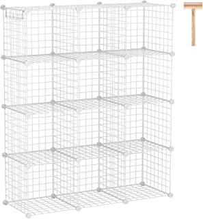 C&AHOME Wire Cube Storage Organizer, 12-Cube Storage Shelf, Storage Bins, Modular Bookshel Shelving, DIY Closet Cabinet Id...