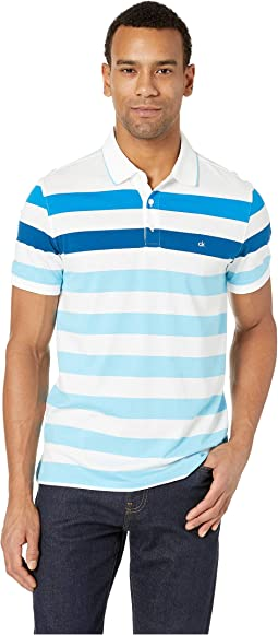 Short Sleeve Bold Stripe Polo