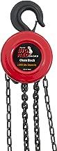 Torin Big Red Chain Block / Manual Hoist with 2 Hooks, 1 Ton (2,000 lb) Capacity