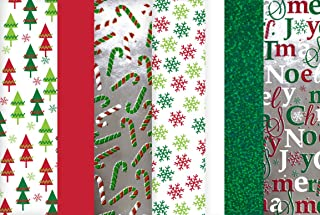 Christmas Tissue Paper (Hologram, Printed & Solid) 100 Sheets