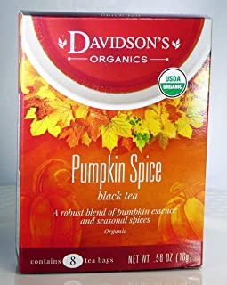 Tea Bag Box of 8, Pumpkin Spice Organic Tea