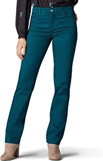Lee Womens 34046 Instantly Slims Classic Relaxed Fit Monroe Straight Leg Jean Jeans
