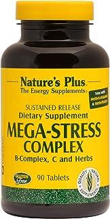 NaturesPlus Mega-Stress Complex, Sustained Release - 90 Vegetarian Tablets - B Complex, Vitamin C Stress Relief Supplement...