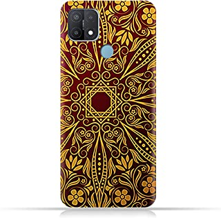 AMC Design TPU Mobile Case Cover for Oppo A15 with Floral Pattern