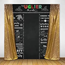 Mocsicka Ugly Sweater Party Backdrop Ugly Sweater Christmas Party Photo Background 5x7ft Vinyl Ugly Sweater Holiday Christams Party Backdrops