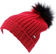 WOOLRICH 4488AC cuffia donna red wool hat woman