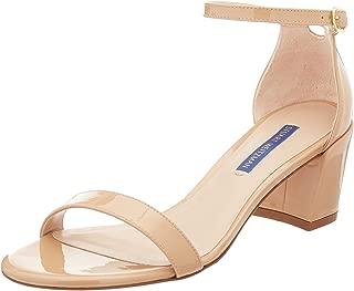 Stuart Weitzman Women's Simple Sandal, Adobe Aniline, 10 Medium US