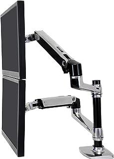 ERGOTRON 45-248-026 Dual Stacking Arm polerowany 24 in 18,1 kg Lift33 Mis-D 10Y Wa czarny/srebrny
