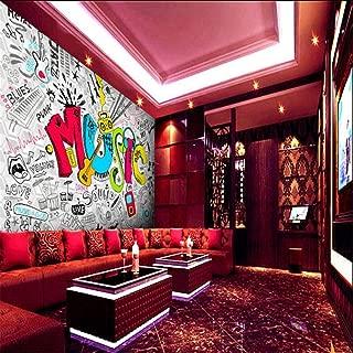 Lifme Wallpaper-3D Living Room Wall Retro White Violin Disco Music Nightclub Bar Ktv Wall Mural Murals-3D Wall Paper-120X100Cm