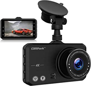Campark 4K Dash Cam with Wifi GPS Dashboard Camera Recorder for Cars with Ultra HD 2160P 3