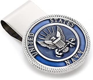 Cufflinks Inc Men's Pewter U.S. Navy Money Clip