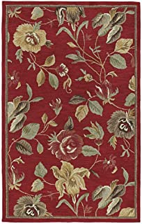Kaleen Rugs Rugs Khazana Collection Savannah-57 Red Hand Tufted 2'3