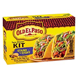 Old El Paso Taco Dinner Kit, Stand 'n Stuff, 8.8 oz Box