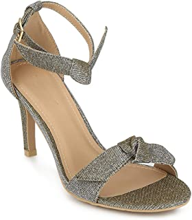 TRUFFLE COLLECTION Women's 1568-58 Silver Synthetic Fashion Sandals