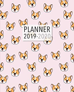 Planner 2019-2020: 18 Month Academic Planner. Monthly and Weekly Calendars, Daily Schedule, Important Dates, Mood Tracker, Goals and Thoughts all in One! Cute Corgi Pink Cover