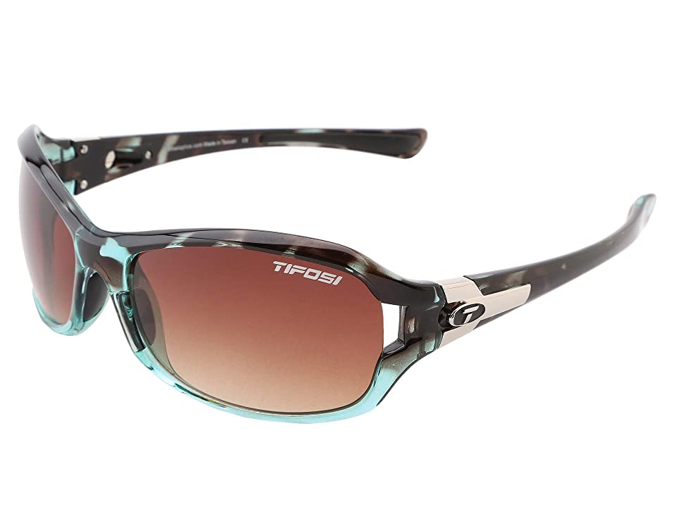 Tifosi Optics Deatm SL (Blue Tortoise/Brown Gradient Lens) Athletic Performance Sport Sunglasses