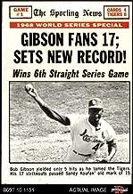 1969 Topps # 162 1968 World Series - Game #1 - Gibson Fans 17 Bob Gibson St. Louis/Detroit Cardinals/Tigers (Baseball Card) Dean's Cards 3 - VG Cardinals/Tigers