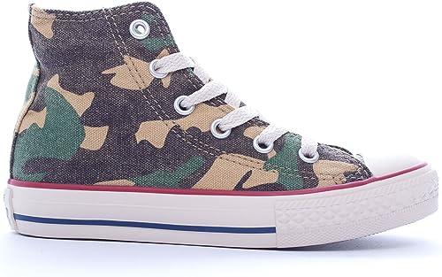 Converse 623088 CT Print Hi Green Camo Verde Scarpe Sneakers Bambino all Star Lacci