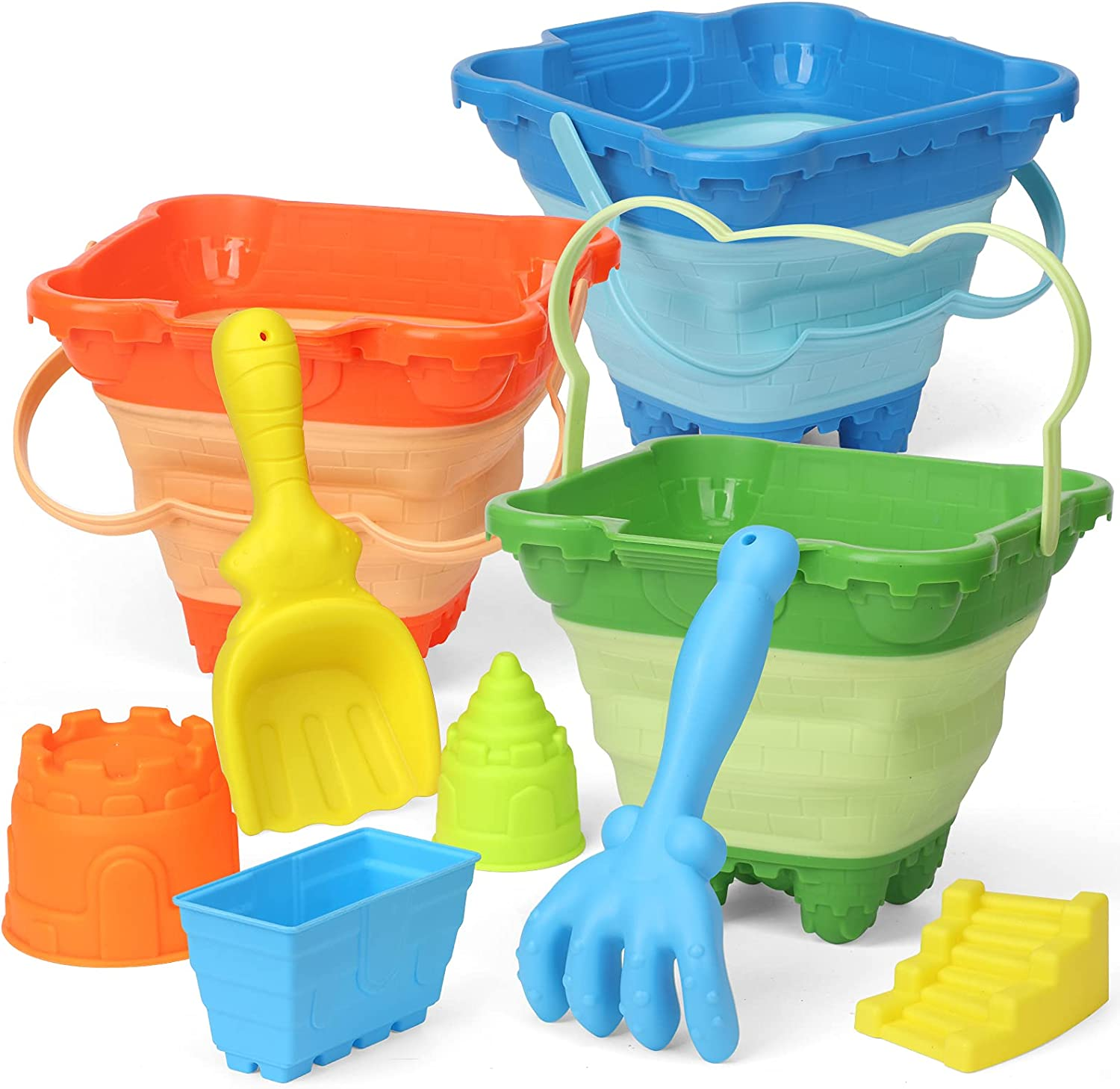 Castle Model Sand Max 58% OFF Buckets Pails Beach Toys 55% OFF Foldable