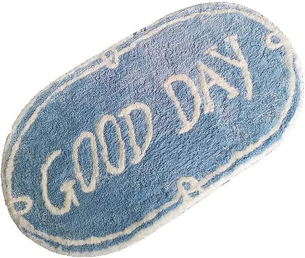 Bath Mat Kids Bath Rugs Bath Mat Rug Water Absorption Non Slip Plush Thicken Bathroom Bedroom Carpet Door Mat Doorway Entering The Door Foot Pad WEIYV Color Good Mood Size 5090cm
