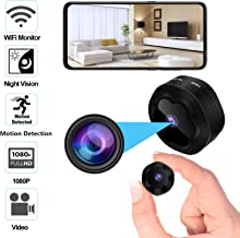 Mini Spy Hidden Camera WiFi Wireless Camera 1080P HD Remotely Monitor, Motion Detection..