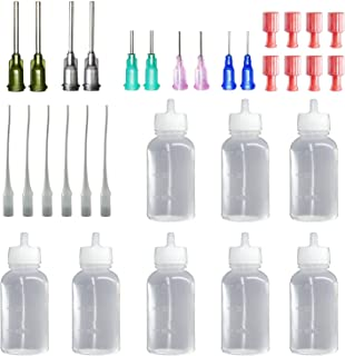 30Milliliter Precision Applicator Bottle with Blunt Tip Needle and Cap|14ga 16ga 18ga 20ga 22ga Blunt Needles|Oil Dropper ...