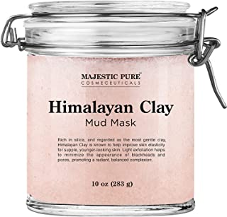 Himalayan Clay Mud Mask for Face and Body by Majestic Pure - Exfoliating and Facial Acne Fighting Mask - Reduces Appearanc...