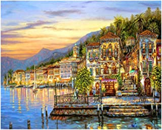 DIY Hand Painted Digital Oil Painting Paint By Numbers for Adults Children Nature Landscape Painting Artwork Without Frame...