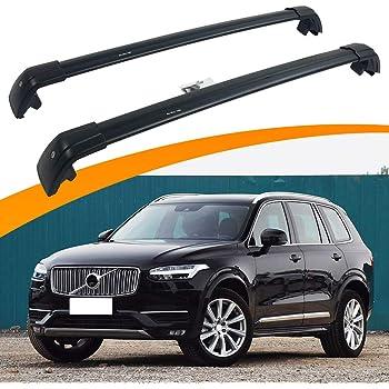 Amazon Com Snailauto Lockable Cross Bars Roof Racks Fit For Volvo Xc90 2015 2016 2017 2018 2019 2020 Luggage Rack Automotive