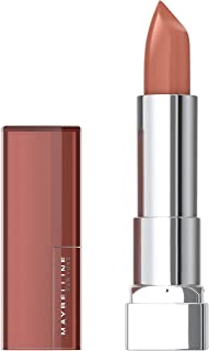 Maybelline Color Sensational Lipstick, Lip Makeup, Cream Finish, Hydrating Lipstick, Nude, Pink, Red, Plum Lip Color, Naked Dare, 0.15 oz. (Packaging May Vary)