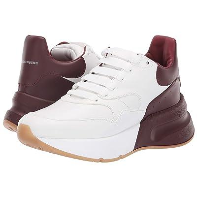 Alexander McQueen Oversized Runner Sneaker (Optic White/Carmine) Women