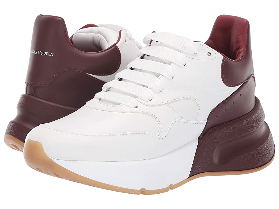 Alexander McQueen Oversized Runner Sneaker (Optic White/Carmine) Women