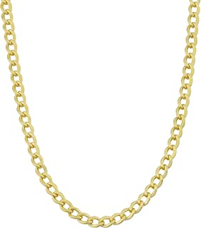 14k Yellow Gold Filled 3.2 mm High Polish Miami Cuban Curb Chain Necklace