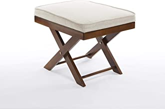 Greenhurst Footstool, Pine, Brown and Beige, One Size