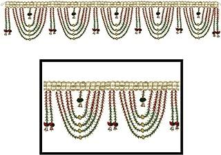 Amba Handicraft Door Hanging Toran Window Valance Dream Catcher Home Décor Interior Pooja bandanwaar Diwali Gift Festival Colorful Indian Handicraft Love.TORAN 248