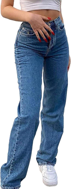 Women Butterfly Print overseas High Gorgeous Waist Jeans W Denim Y2K Baggy Fashion