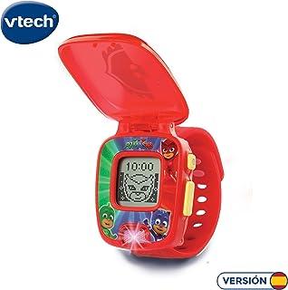 VTech PJ Masks Buhita, Reloj Digital Educativo Que estimula el Aprendizaje e incorpora minijuegos y Actividades, Color Rojo (3480-175857)