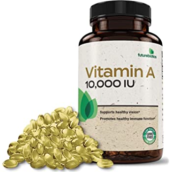 Futurebiotics Vitamin A 10,000 IU Premium Non-GMO Formula Supports Healthy Vision & Immune System and Healthy Growth & Reproduction, 250 Softgels