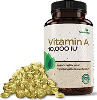 Futurebiotics Vitamin A 10,000 IU Premium Non-GMO Formula Supports Healthy Vision & Immune System and Healthy Growth & Rep...