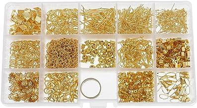 Jili Online Caixa de fabricação de joias para iniciantes, kits de contas, alicates, correntes, cordas, anéis, fechos, pino...