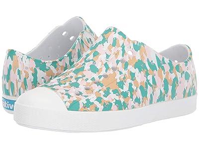 Native Kids Shoes Jefferson Print (Little Kid) (Shell White/Shell White/Konpeito) Kids Shoes