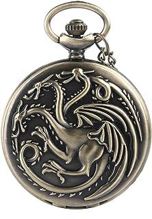 Juego de Tronos temáticas de cuarzo reloj de bolsillo collar–Cadena de 32pulgadas/80cm–elegir de 3estilos diferentes