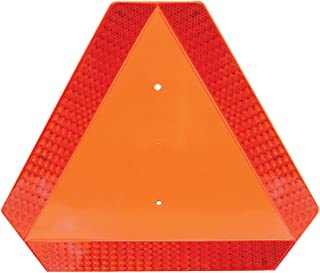 Deflecto Slow Moving Vehicle Sign with Reflective Tape, Safety Triangle, Orange, Highly Visible, Plastic, 16