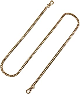"""TSJ 47"""" Replacement Flat Chain Strap with Buckles, 1 PCS DIY Metal Shoulder Cross Body Bag Chains for Women Handbag Wallet..."""