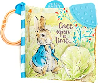 KIDS PREFERRED Peter Rabbit Soft Book with Teether and Crinkle, 5 Inches
